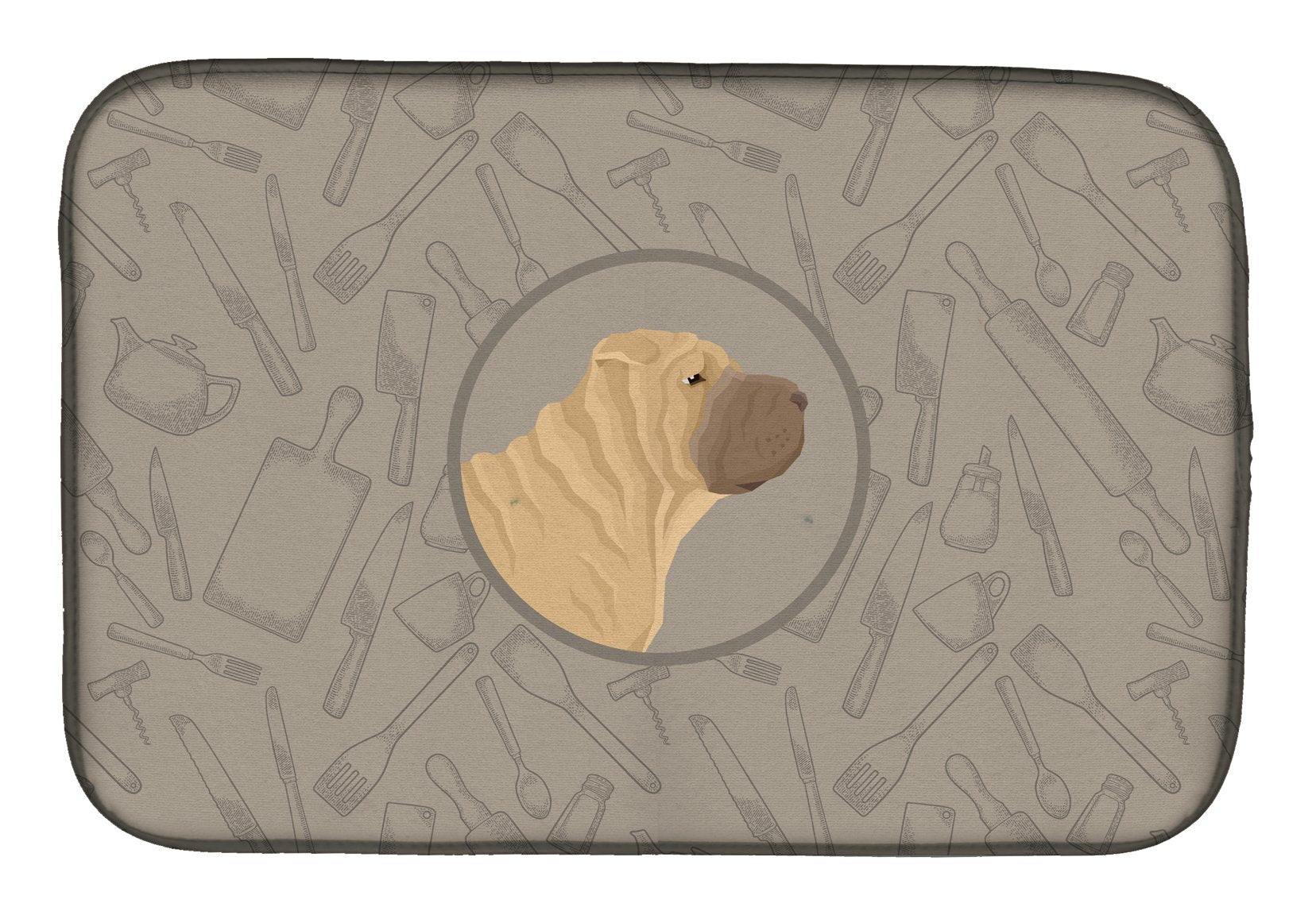 Buy this Shar Pei In the Kitchen Dish Drying Mat CK2209DDM