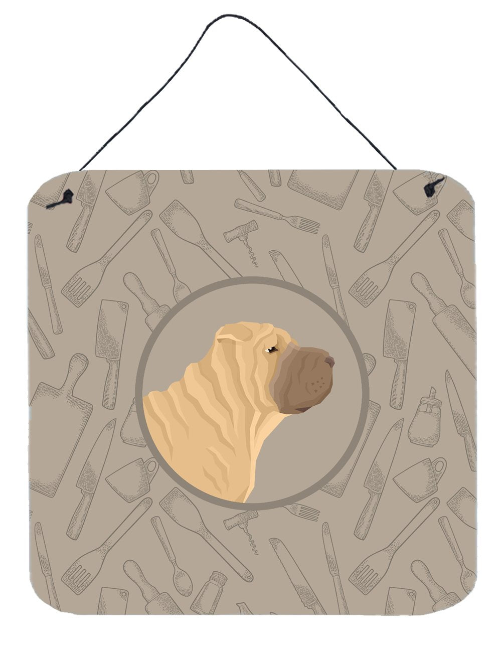 Buy this Shar Pei In the Kitchen Wall or Door Hanging Prints CK2209DS66