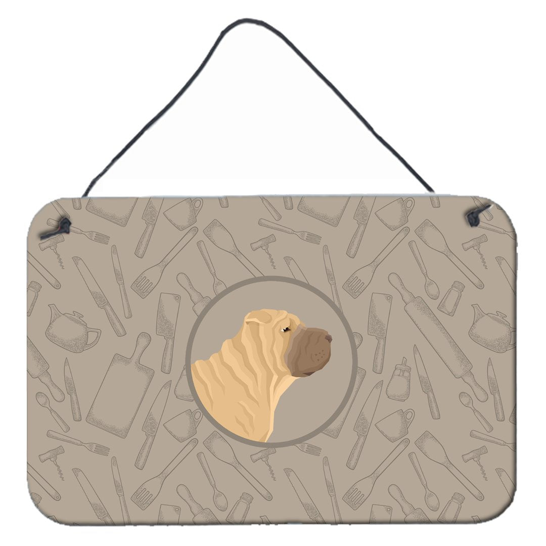 Buy this Shar Pei In the Kitchen Wall or Door Hanging Prints CK2209DS812