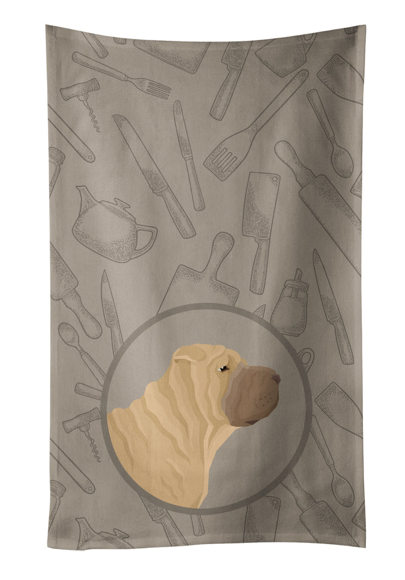 Buy this Shar Pei In the Kitchen Kitchen Towel CK2209KTWL