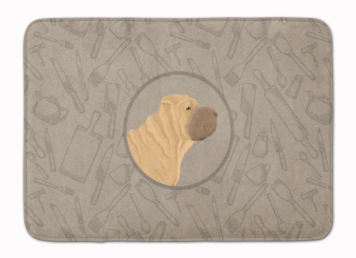 Buy this Shar Pei In the Kitchen Machine Washable Memory Foam Mat CK2209RUG