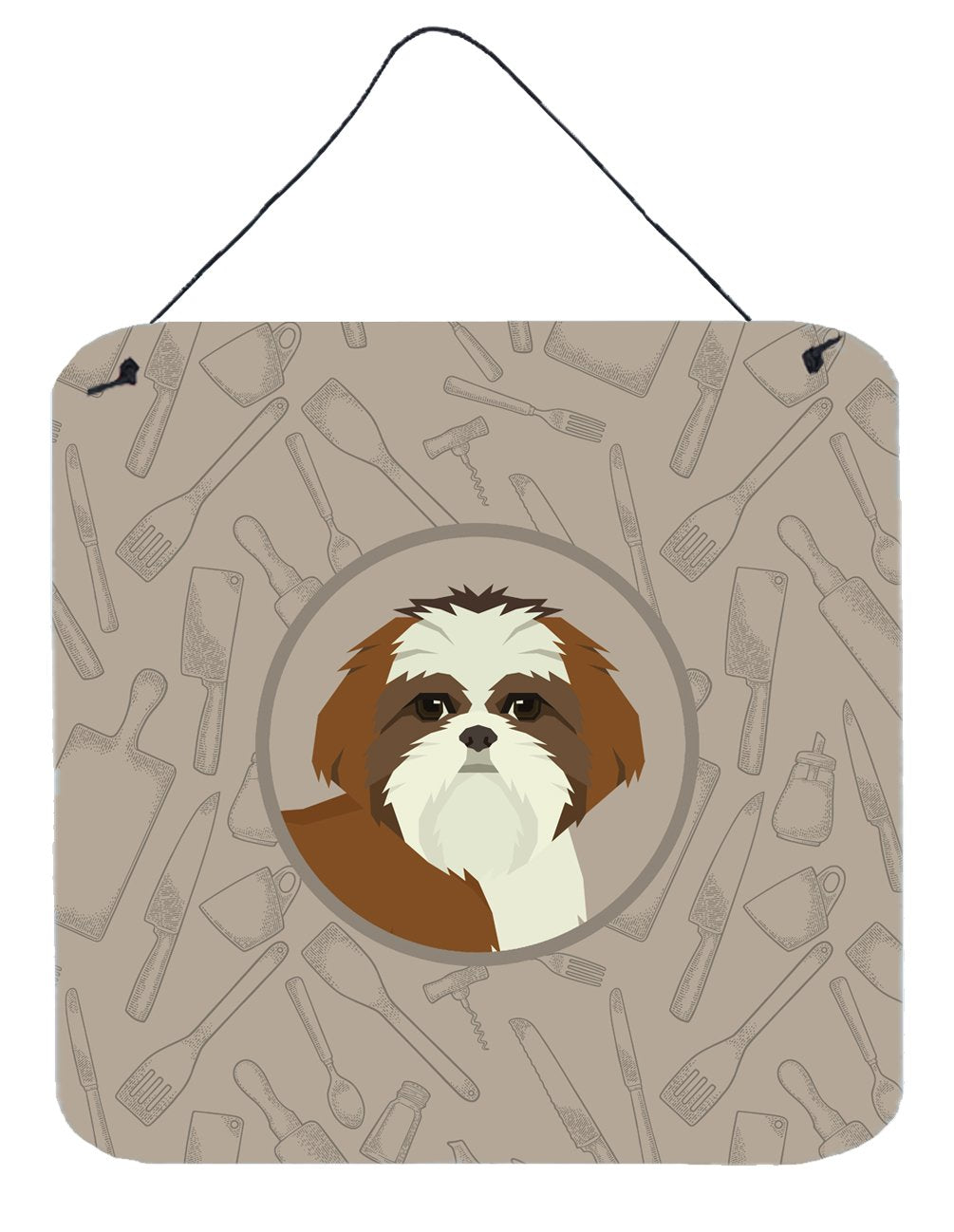 Buy this Shih Tzu In the Kitchen Wall or Door Hanging Prints CK2210DS66