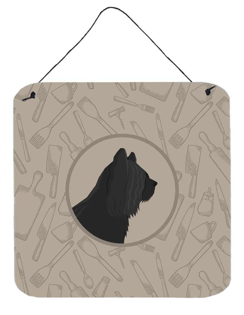 Buy this Skye Terrier In the Kitchen Wall or Door Hanging Prints CK2211DS66