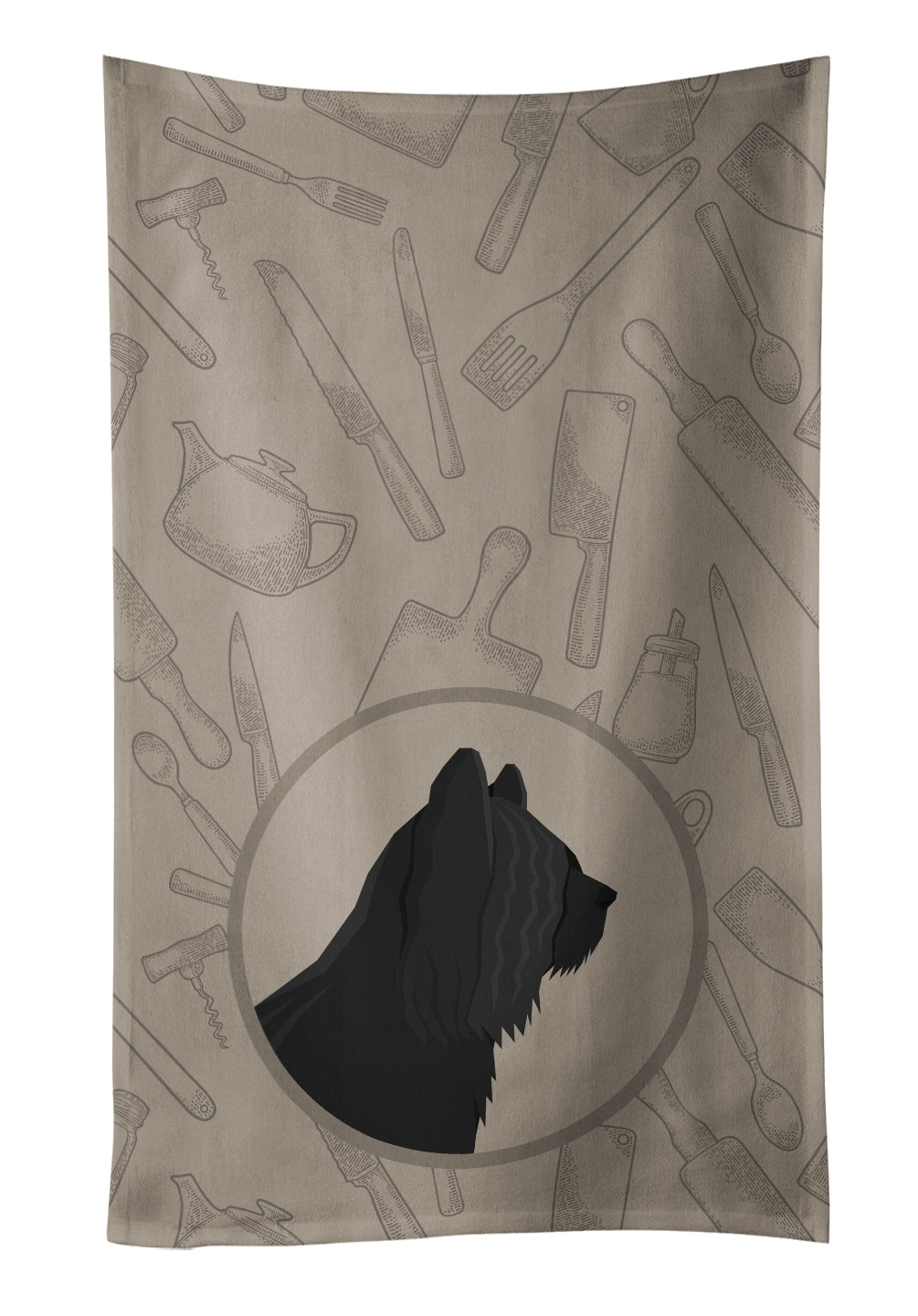 Skye Terrier In the Kitchen Kitchen Towel CK2211KTWL by Caroline's Treasures