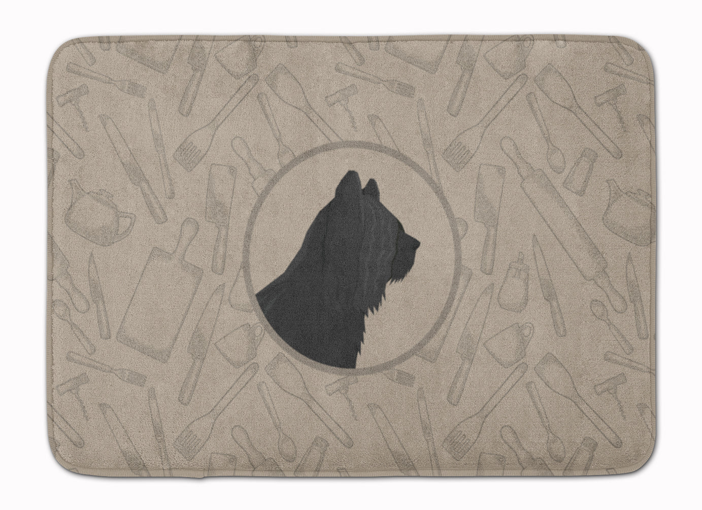 Skye Terrier In the Kitchen Machine Washable Memory Foam Mat CK2211RUG by Caroline's Treasures