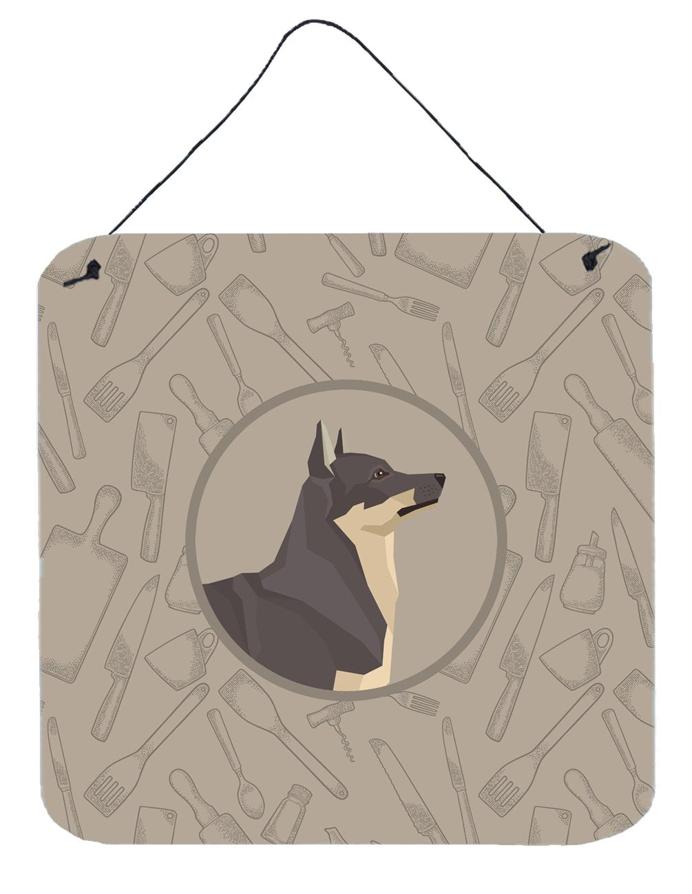 Swedish Vallhund In the Kitchen Wall or Door Hanging Prints CK2213DS66 by Caroline's Treasures