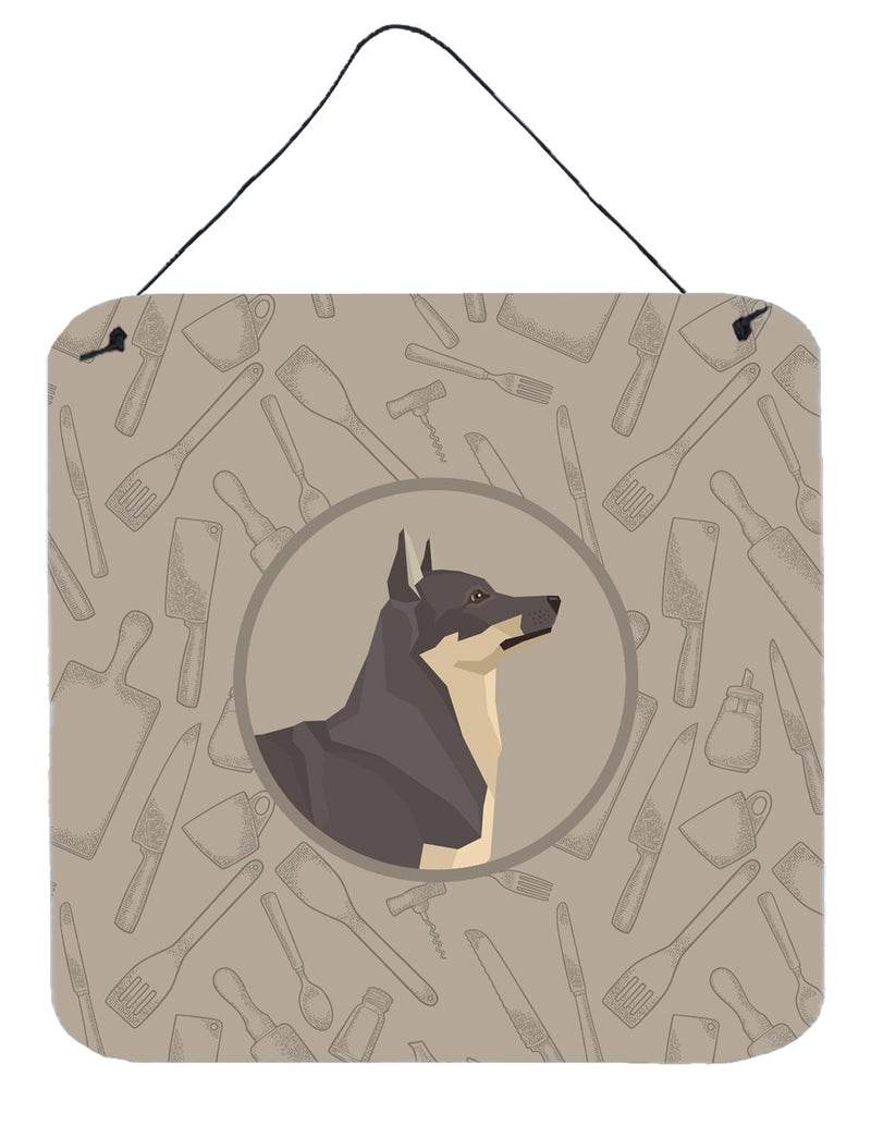 Buy this Swedish Vallhund In the Kitchen Wall or Door Hanging Prints CK2213DS66
