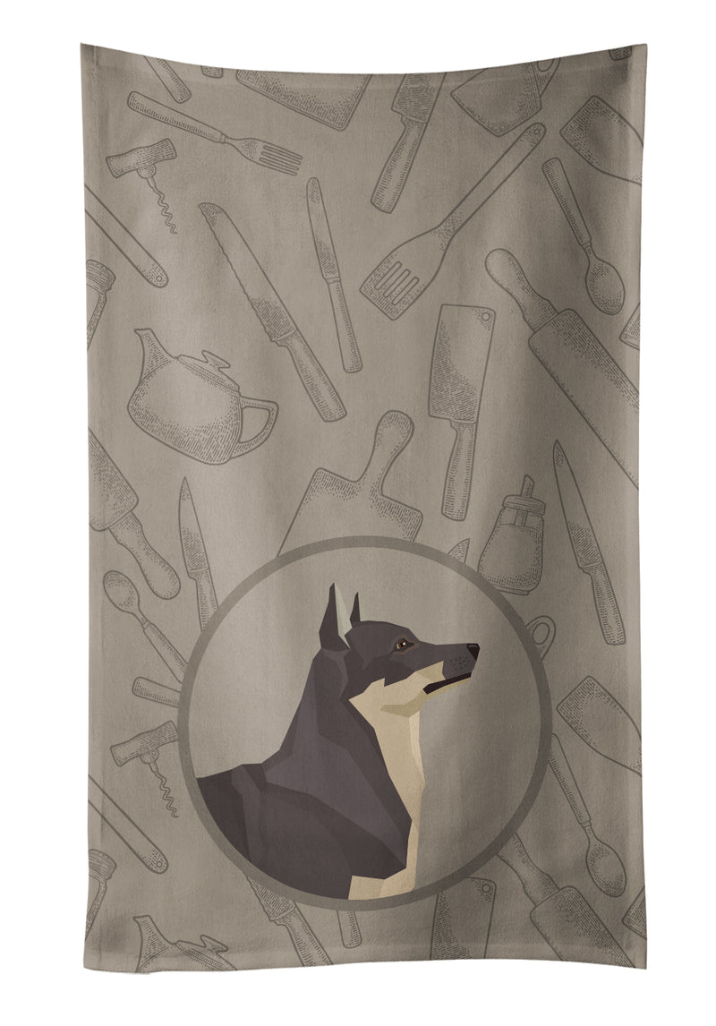Buy this Swedish Vallhund In the Kitchen Kitchen Towel CK2213KTWL