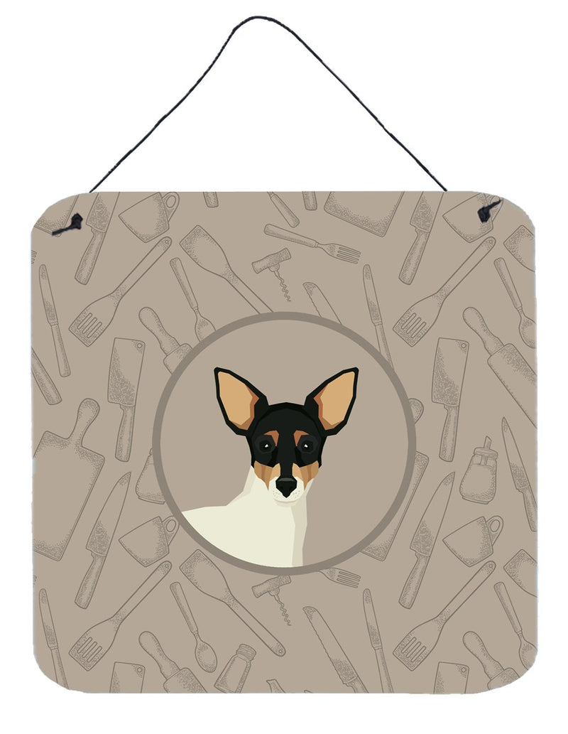 Buy this Toy Fox Terrier In the Kitchen Wall or Door Hanging Prints CK2214DS66