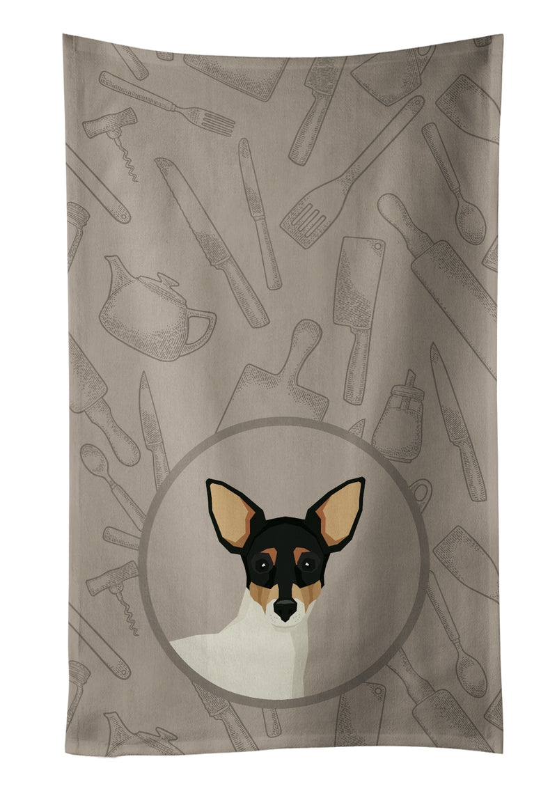 Buy this Toy Fox Terrier In the Kitchen Kitchen Towel CK2214KTWL
