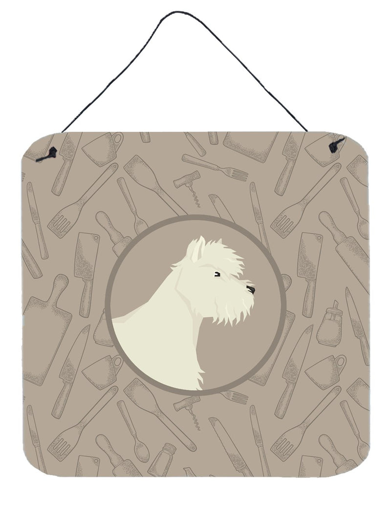 Buy this Westie In the Kitchen Wall or Door Hanging Prints CK2216DS66