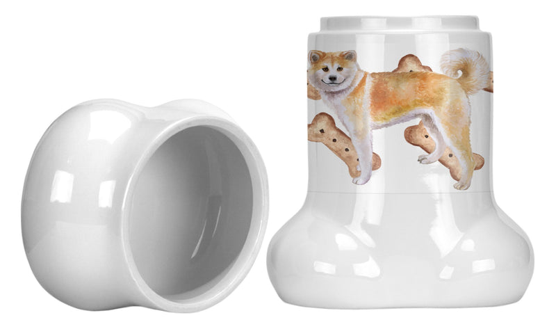 Buy this Shiba Inu Bone Shaped Treat Jar CK2258BSTJ