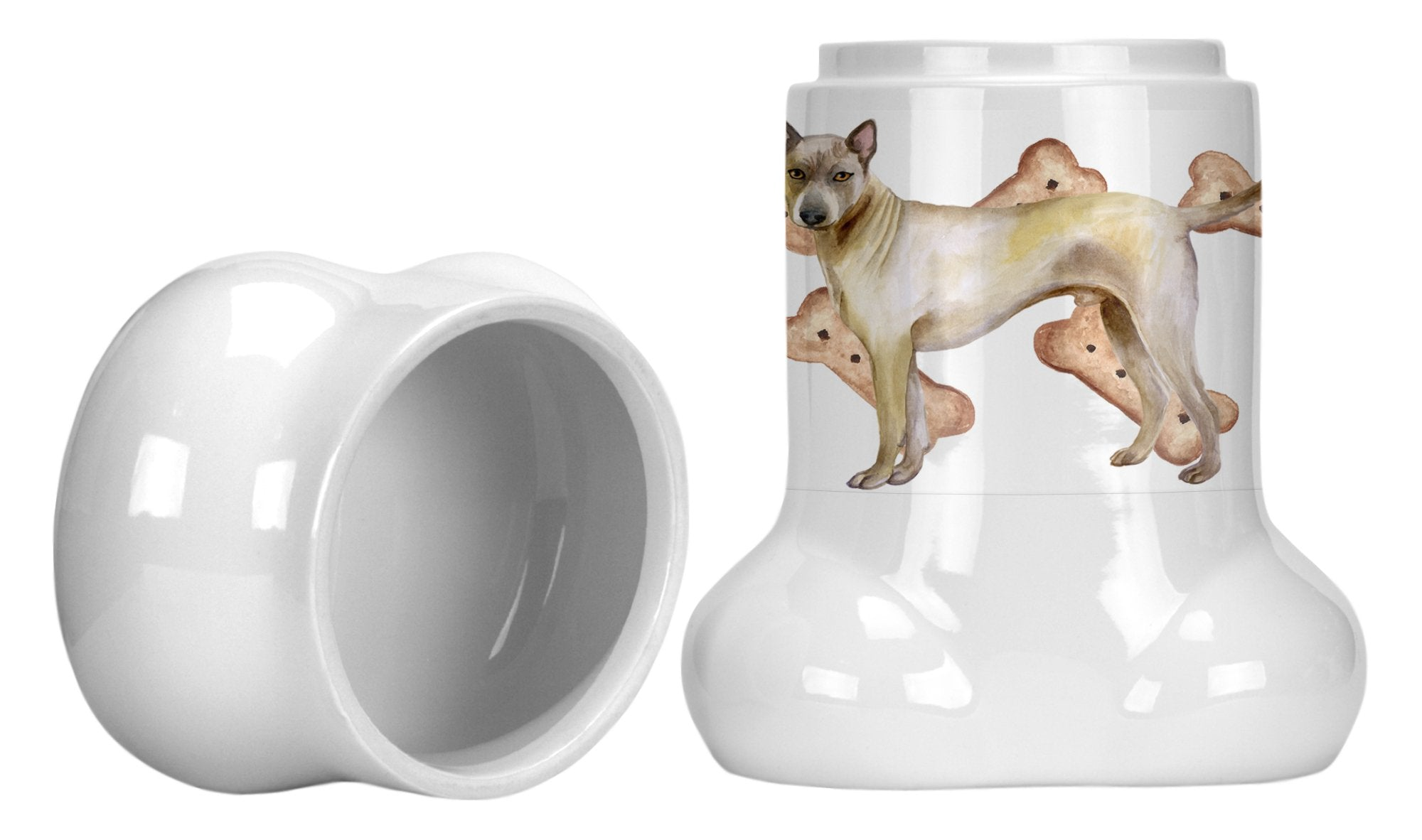Buy this Thai Ridgeback Bone Shaped Treat Jar CK2260BSTJ