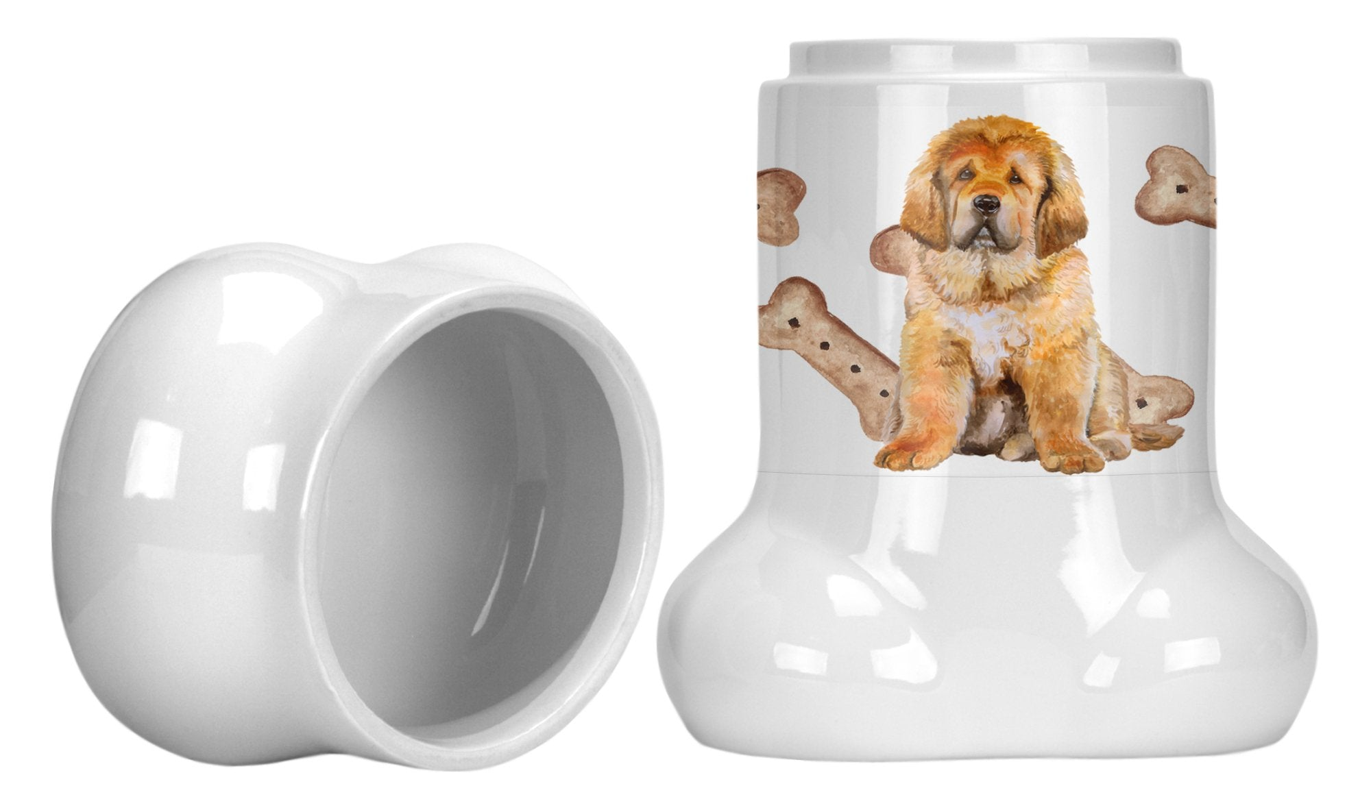 Tibetan Mastiff Bone Shaped Treat Jar CK2300BSTJ by Caroline's Treasures