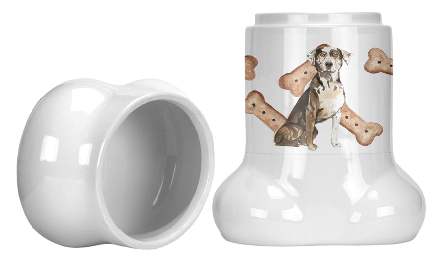Buy this Catahoula Leopard Dog Bone Shaped Treat Jar CK2312BSTJ