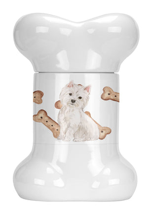 Buy this Westie Highland White Terrier Bone Shaped Treat Jar CK2392BSTJ