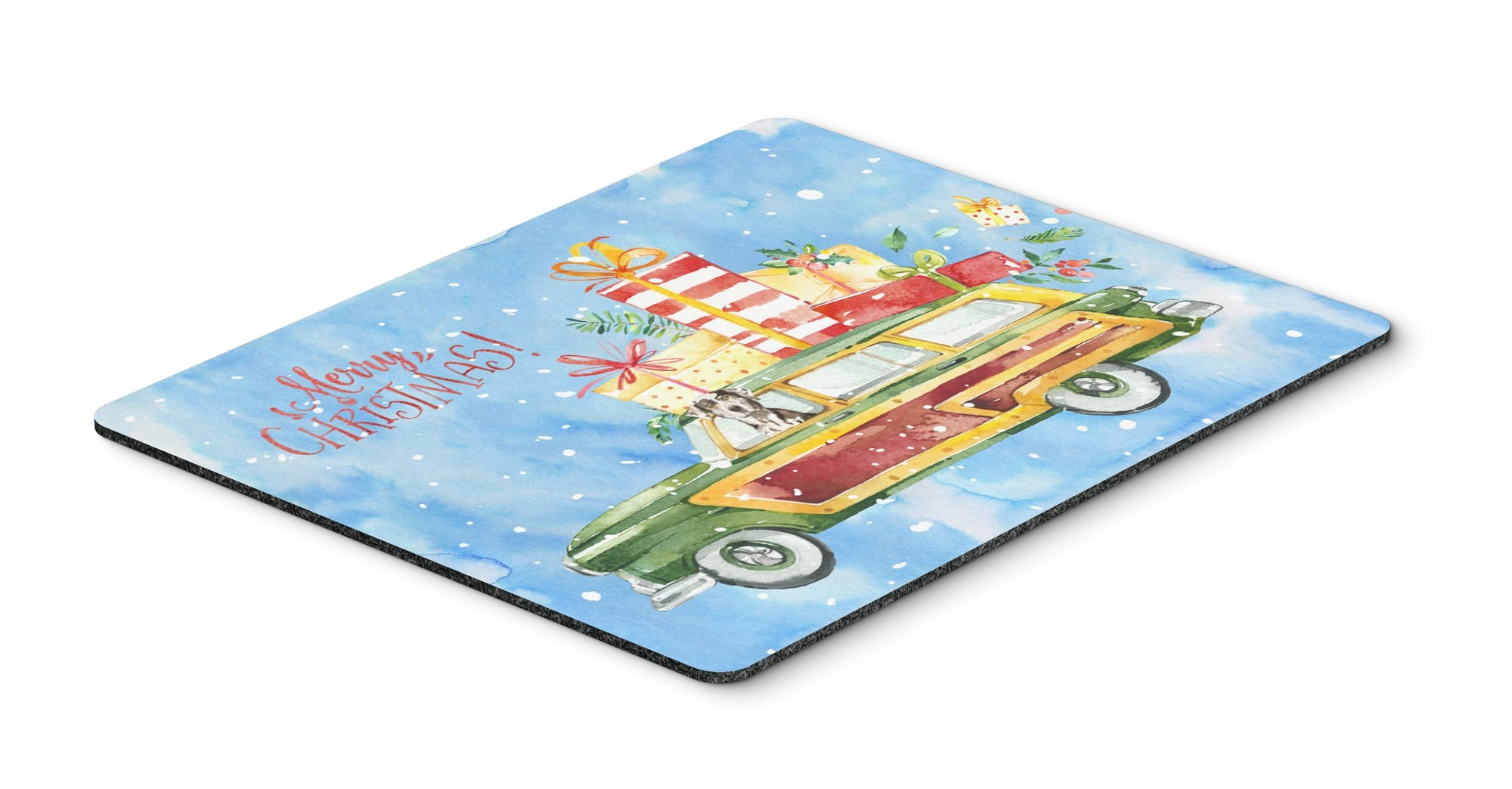 Merry Christmas Catahoula Leopard Dog Mouse Pad, Hot Pad or Trivet CK2402MP by Caroline's Treasures