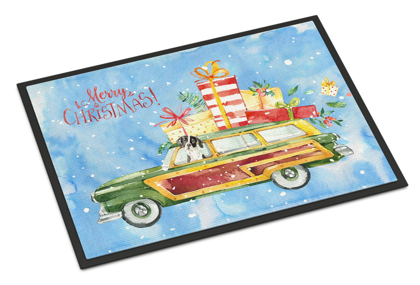 Merry Christmas English Pointer Indoor or Outdoor Mat 18x27 CK2405MAT by Caroline's Treasures