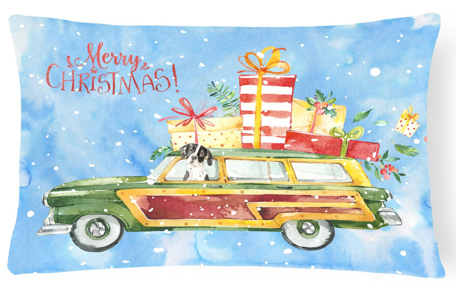 Buy this Merry Christmas English Pointer Canvas Fabric Decorative Pillow CK2405PW1216