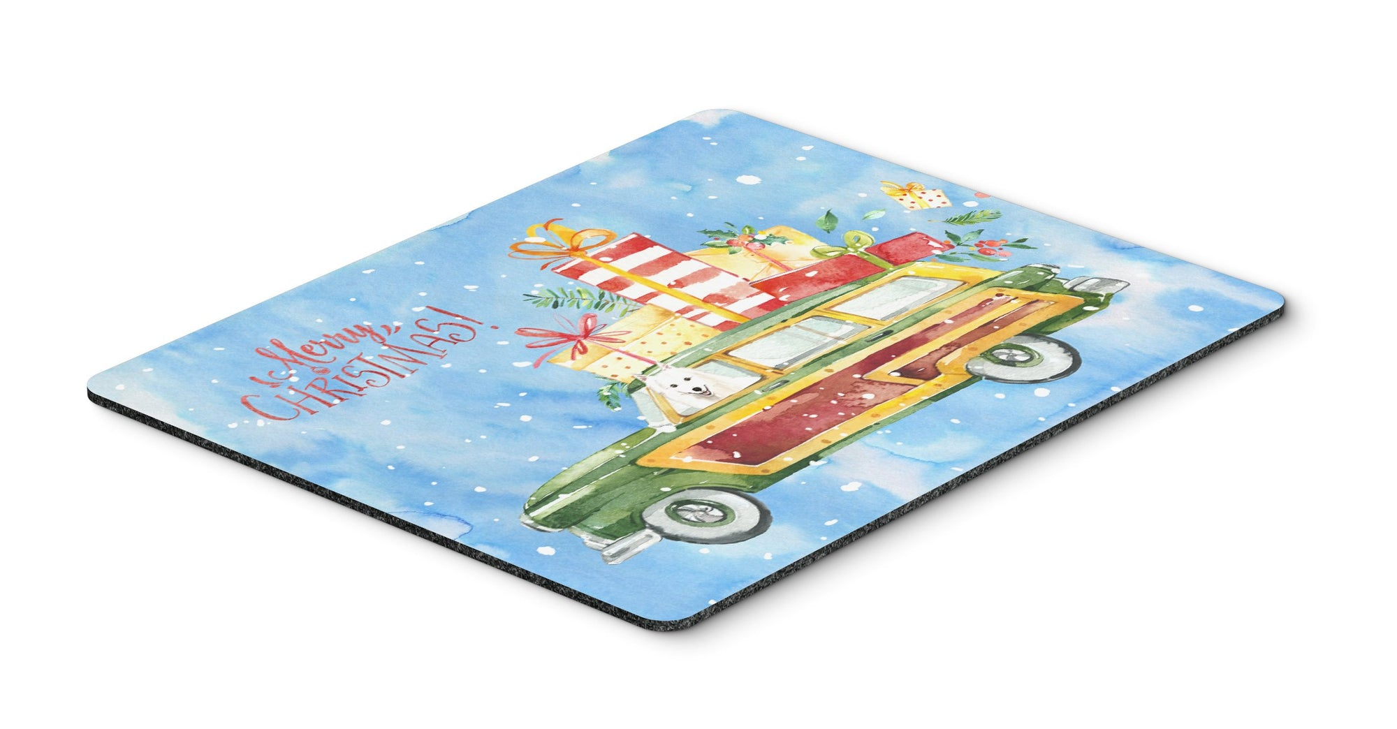Merry Christmas Japanese Spitz Mouse Pad, Hot Pad or Trivet CK2410MP by Caroline's Treasures