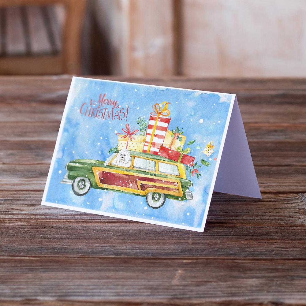 Buy this Merry Christmas Maltese Greeting Cards and Envelopes Pack of 8
