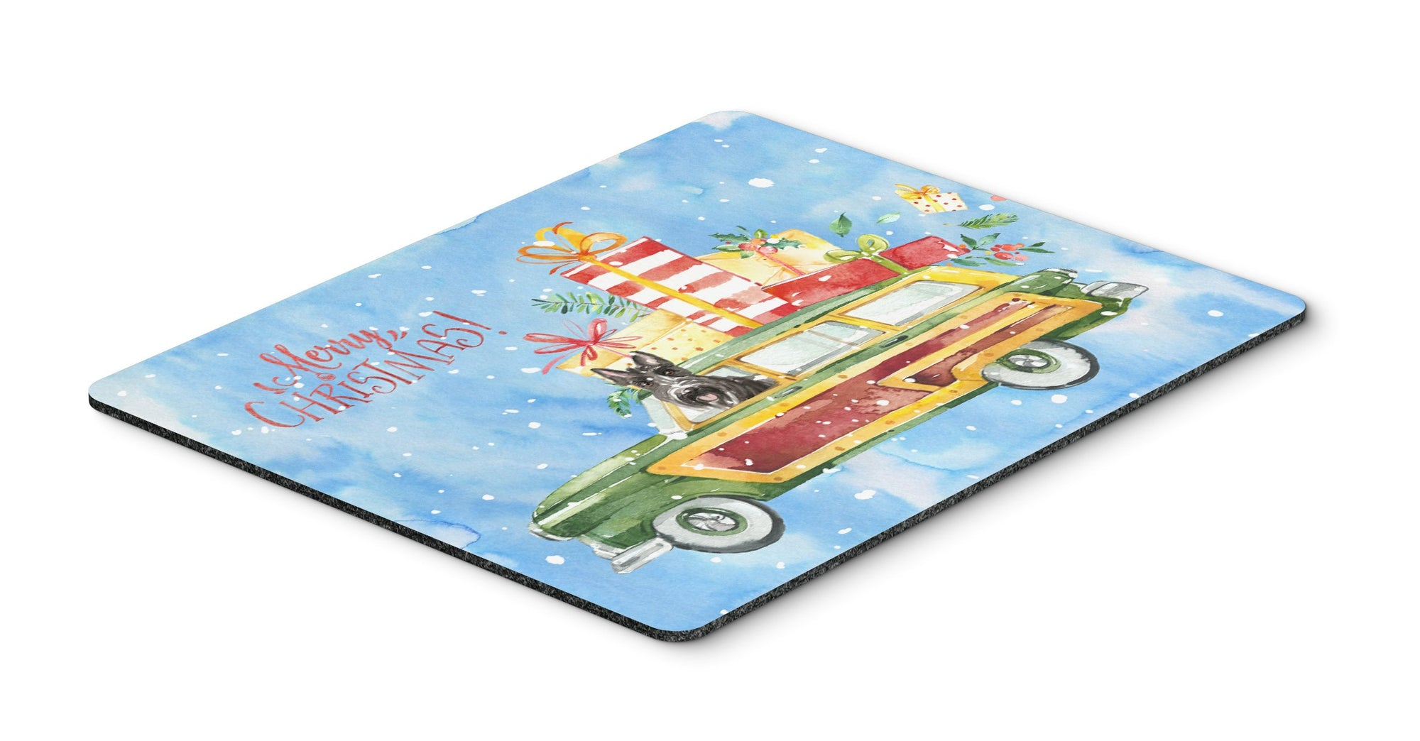 Merry Christmas Scottish Terrier Mouse Pad, Hot Pad or Trivet CK2420MP by Caroline's Treasures