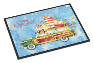 Buy this Merry Christmas Sheltie Indoor or Outdoor Mat 24x36 CK2421JMAT