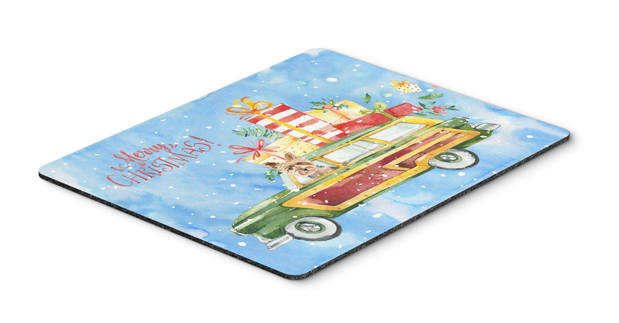 Buy this Merry Christmas Yorkshire Terrier Mouse Pad, Hot Pad or Trivet CK2431MP