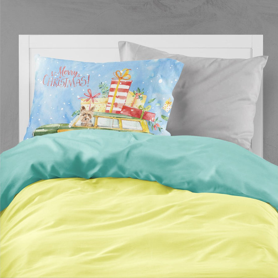 Buy this Merry Christmas Yorkshire Terrier Fabric Standard Pillowcase CK2431PILLOWCASE