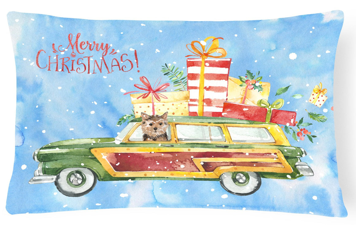 Buy this Merry Christmas Norwich Terrier Canvas Fabric Decorative Pillow CK2461PW1216