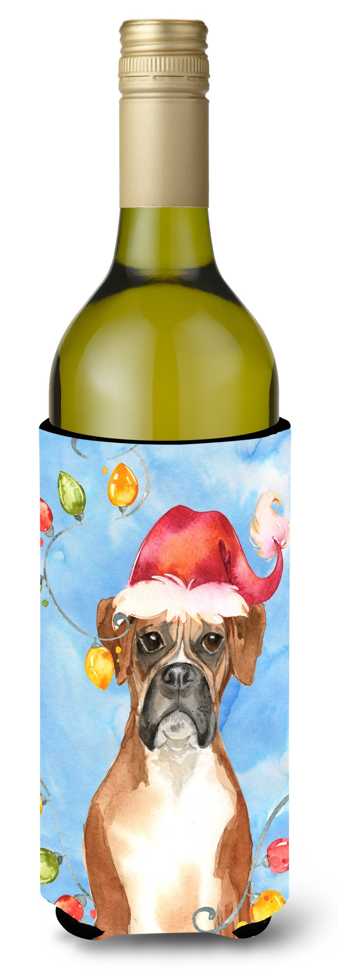 Buy this Christmas Lights Boxer Wine Bottle Beverage Insulator Hugger CK2468LITERK
