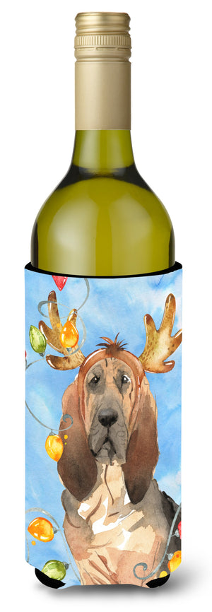 Buy this Christmas Lights Bloodhound Wine Bottle Beverage Insulator Hugger CK2471LITERK