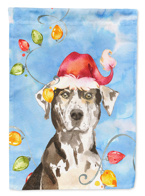 Buy this Christmas Lights Catahoula Leopard Dog Flag Canvas House Size CK2475CHF