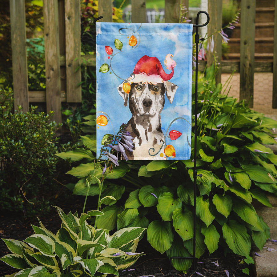 Buy this Christmas Lights Catahoula Leopard Dog Flag Garden Size CK2475GF