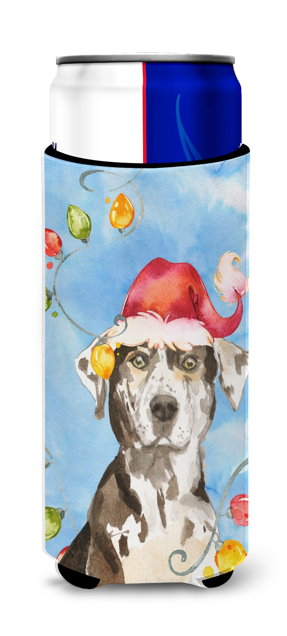 Christmas Lights Catahoula Leopard Dog Michelob Ultra Hugger for slim cans CK2475MUK by Caroline's Treasures