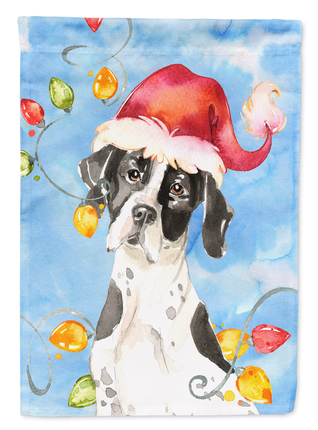 Buy this Christmas Lights English Pointer Flag Canvas House Size CK2477CHF