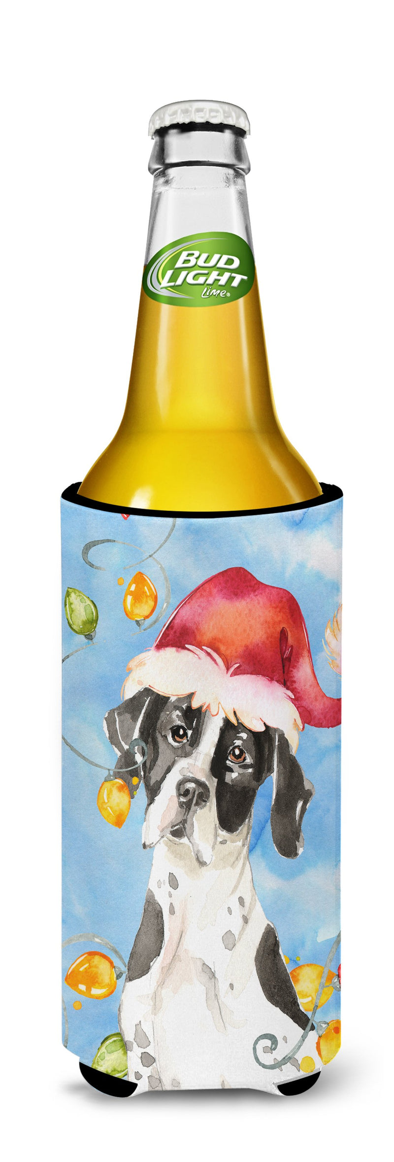 Buy this Christmas Lights English Pointer Michelob Ultra Hugger for slim cans CK2477MUK