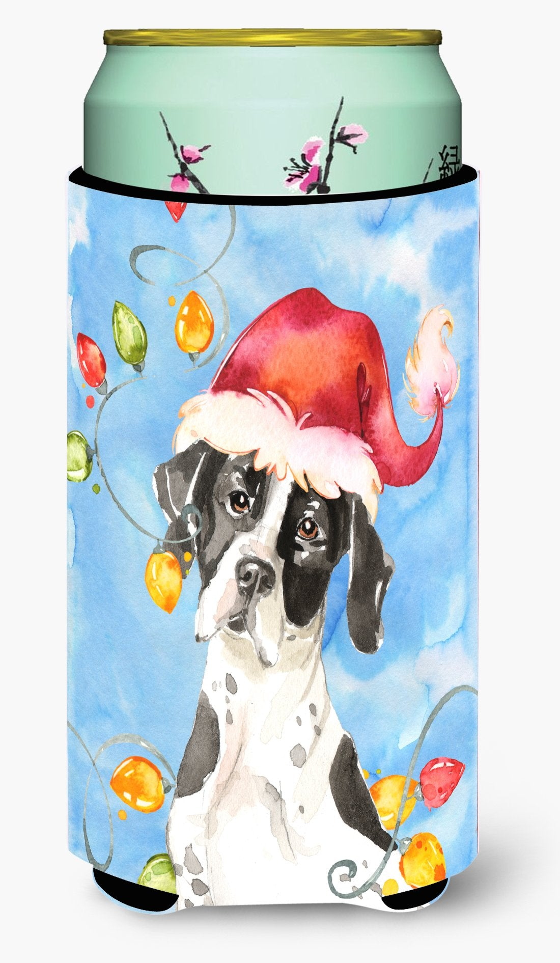 Buy this Christmas Lights English Pointer Tall Boy Beverage Insulator Hugger CK2477TBC
