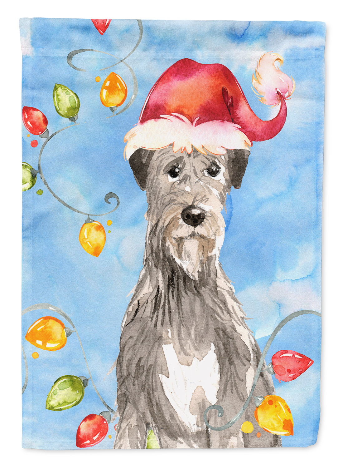 Christmas Lights Irish Wolfhound Flag Canvas House Size CK2481CHF by Caroline's Treasures