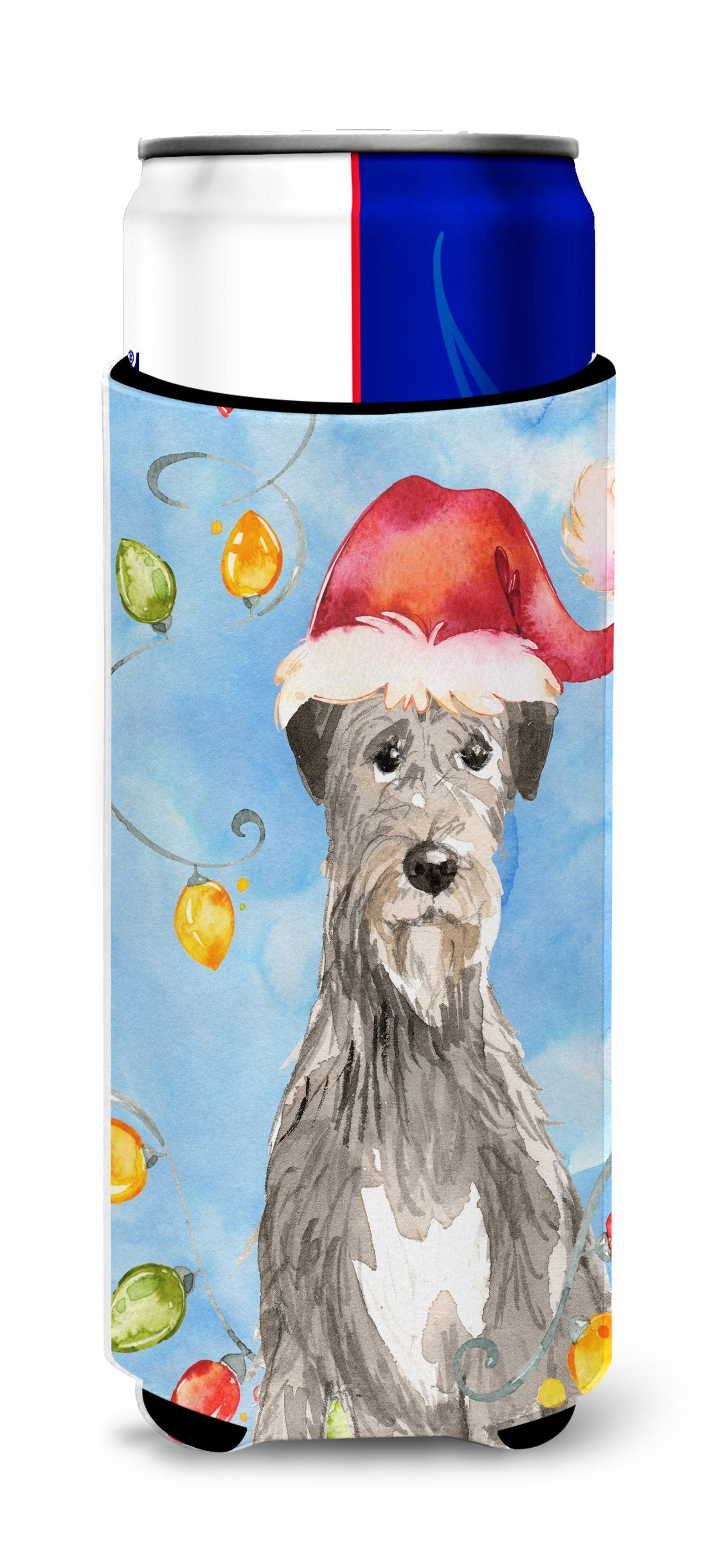 Buy this Christmas Lights Irish Wolfhound Michelob Ultra Hugger for slim cans CK2481MUK