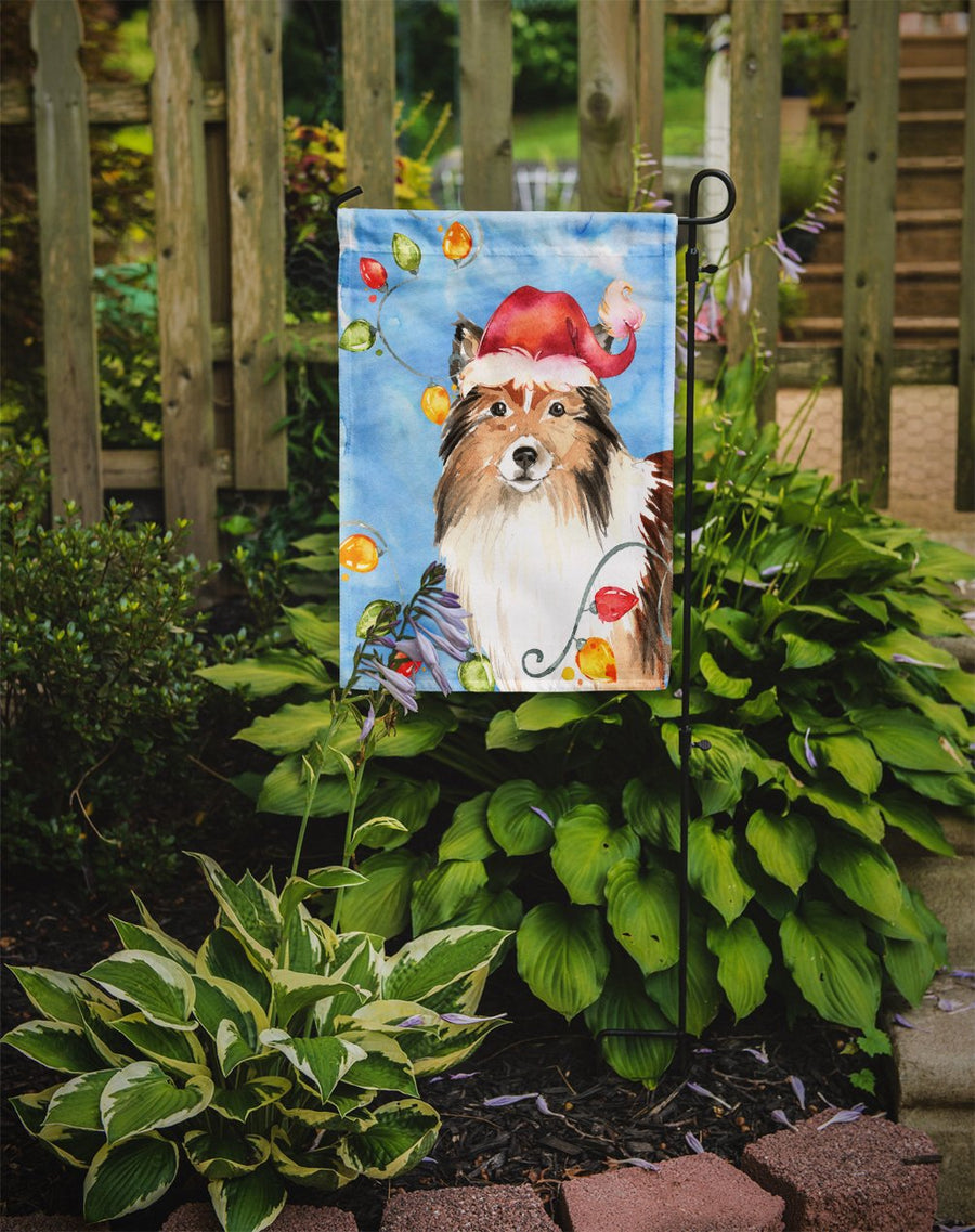 Buy this Christmas Lights Sheltie Flag Garden Size CK2492GF