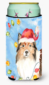 Christmas Lights Sheltie Tall Boy Beverage Insulator Hugger CK2492TBC by Caroline's Treasures