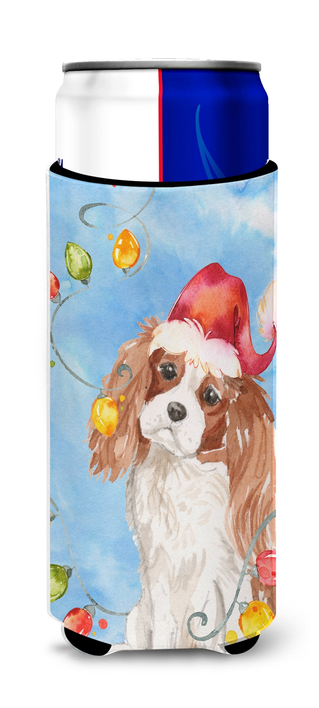 Christmas Lights Blenheim Cavalier Spaniel Michelob Ultra Hugger for slim cans CK2509MUK by Caroline's Treasures