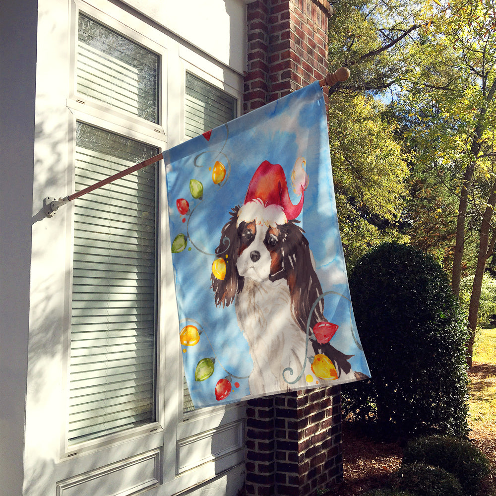 Buy this Christmas Lights Tricolor Cavalier Spaniel Flag Canvas House Size CK2510CHF