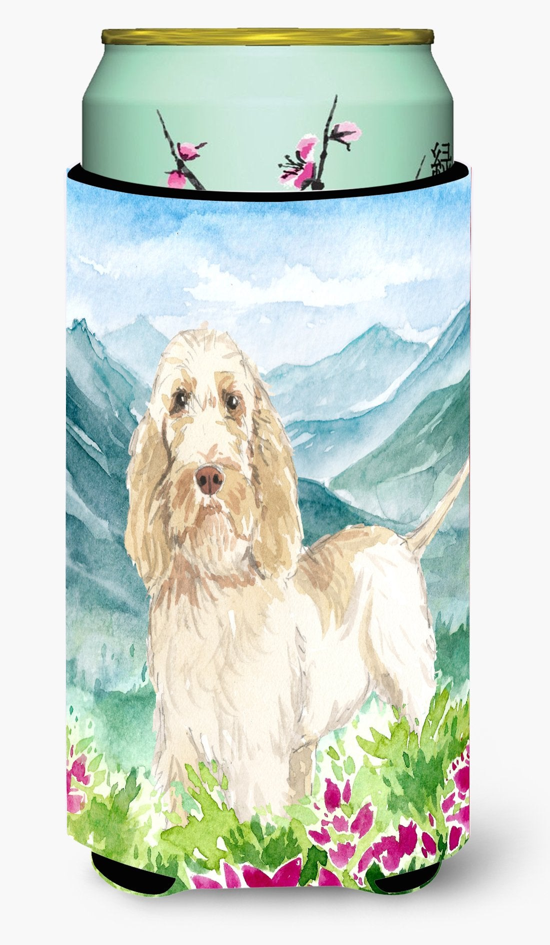 Mountian Flowers Spinone Italiano Tall Boy Beverage Insulator Hugger CK2518TBC by Caroline's Treasures