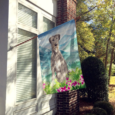 Mountain Flowers Irish Wolfhound Flag Canvas House Size CK2534CHF
