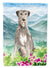 Mountain Flowers Irish Wolfhound Flag Canvas House Size CK2534CHF by Caroline's Treasures