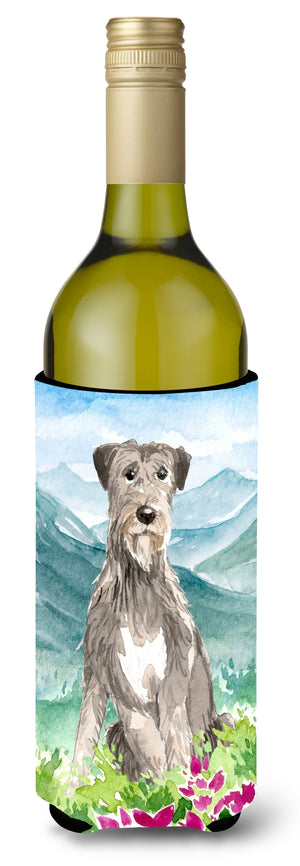Buy this Mountain Flowers Irish Wolfhound Wine Bottle Beverage Insulator Hugger CK2534LITERK