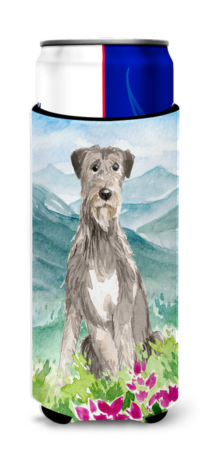 Buy this Mountain Flowers Irish Wolfhound Michelob Ultra Hugger for slim cans CK2534MUK