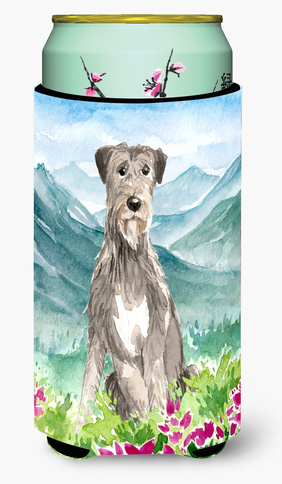 Buy this Mountain Flowers Irish Wolfhound Tall Boy Beverage Insulator Hugger CK2534TBC